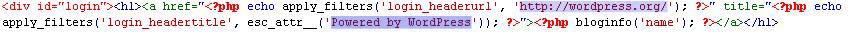 Wordpress Custom Login Page