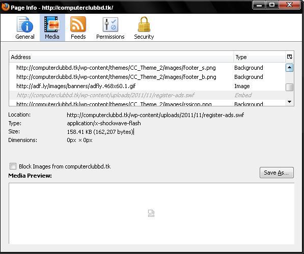 Save Flash File Screen Shot