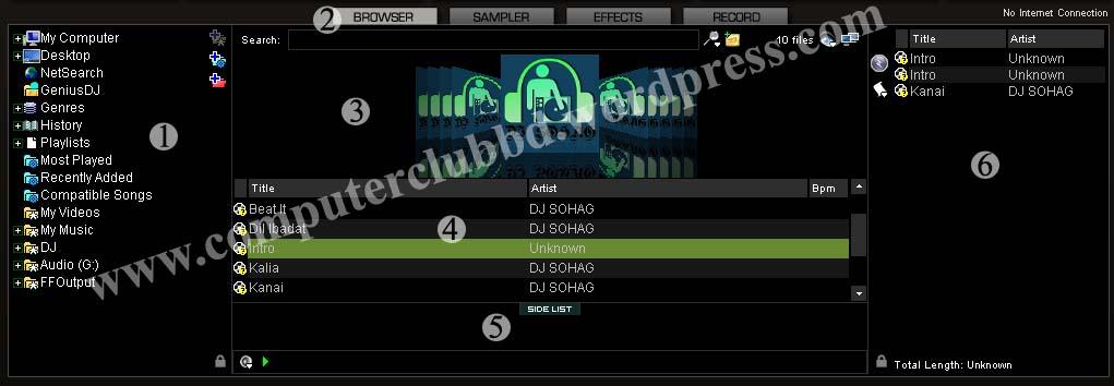 Virtual DJ Screen_File Manage