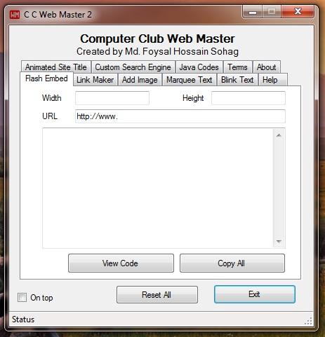 cc web maser v2 screenshot