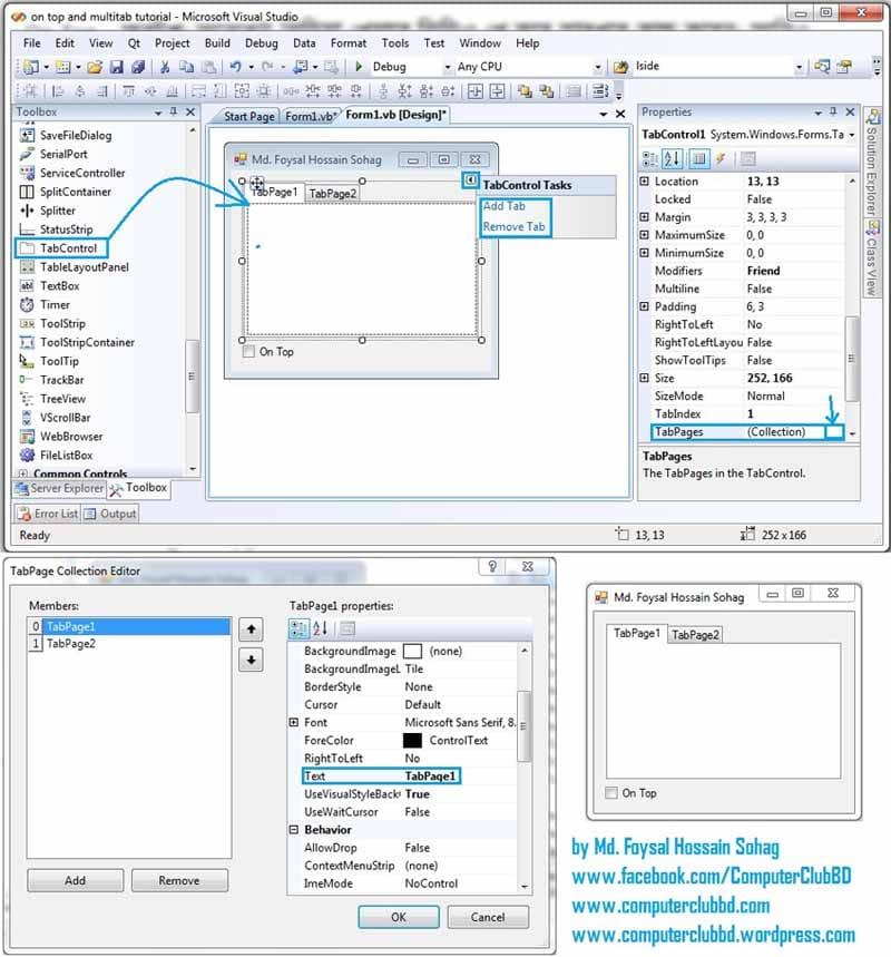 Visual Basic On Top and Multitab Screenshot