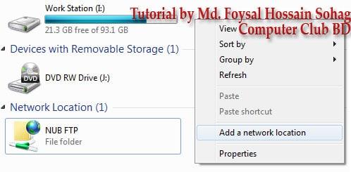 Use Windows Explorer as FTP (1)