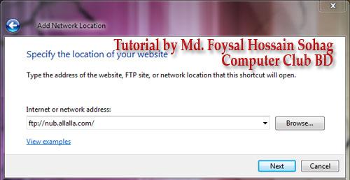 Use Windows Explorer as FTP (4)