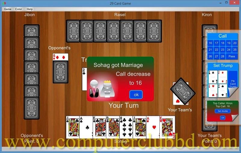 29 Card Game