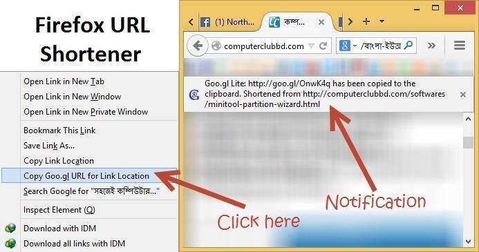 Firefox URL Shortener Plugin - Firefox Goo.gl URL Shortener Plugin
